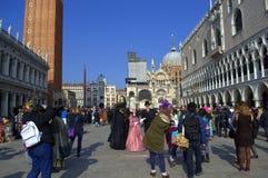 Venice carnival day scene Royalty Free Stock Image