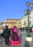 Venice Carnival days streets Royalty Free Stock Photos