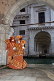 Costumed couple at Venice Carnival 2013 Royalty Free Stock Image