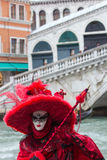 Costumed woman at the Venice Carnival Stock Photography