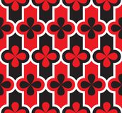 Venice carnival geometric seamless pattern. For background, wrapping paper, fabric, surface design. red and black classic reparable motif Royalty Free Stock Photos