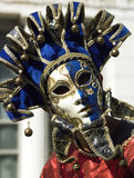 Venice Carnival - Italy. Masked figure at the Venice Carnival in Venice in northern Italy Royalty Free Stock Photo