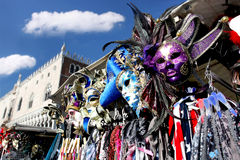 Venice with Carnival mask Stock Images