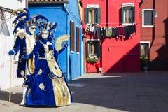 Venice carnival. A mask of the carnival of Venice Stock Photography