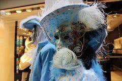 Venice Carnival Mask. Blue pair stock photo