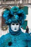 Venice Carnival Mask. Blue Woman stock photography