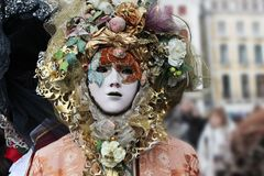 Venice Carnival Mask. Colorful man mask royalty free stock image