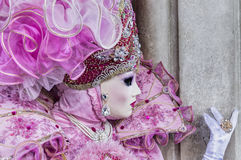 Venice Carnival Mask. Detail of a traditional mask in Venice, Italy stock images