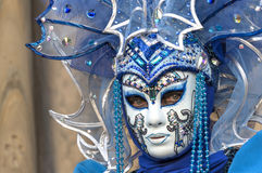 Venice Carnival Mask. Detail of a venetian mask posing at Venice Carnival, Italy Stock Images