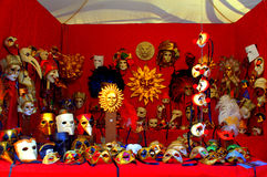Venice carnival mask display Stock Images
