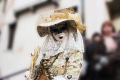 Venice Carnival Mask. Elegant woman royalty free stock image