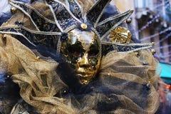 Venice Carnival Mask. Gold mask royalty free stock photo