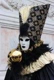 Venice Carnival Mask. Gold Bubble stock image