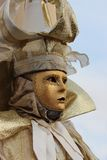 Venice Carnival Mask. Gold man royalty free stock images