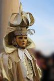 Venice Carnival Mask. Gold man stock photography