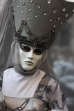 Venice Carnival Mask. Grey woman royalty free stock image