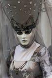 Venice Carnival Mask. Grey Woman royalty free stock photos