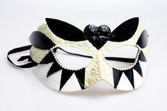 Venice carnival mask. Handmade Venice carnival mask on white Stock Image