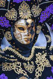Venice Carnival 2016 mask model from the Venetian Burano island Royalty Free Stock Photos