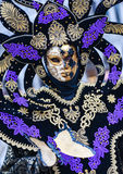 Venice Carnival 2016 mask model from the Venetian Burano island Royalty Free Stock Image