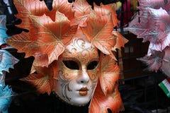 Venice Carnival Mask. Orange mask stock images