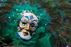 Venice Carnival Mask. Peacock mask royalty free stock photo