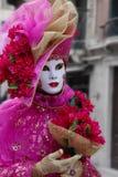 Venice Carnival Mask. Pink woman royalty free stock photos