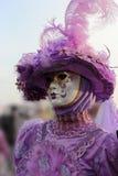 Venice Carnival Mask. Purple Lady stock images