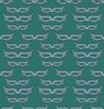 Venice carnival mask seamless pattern. Hand drawn illustration Stock Photo