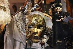 Venice Carnival Mask. Shop window royalty free stock photography