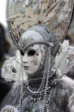 Venice Carnival Mask. Silver Mask stock image