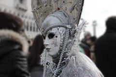 Venice Carnival Mask. Silver mask stock photos