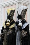 Venice Carnival Mask. Silver and Gold Bubbles royalty free stock image