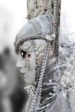 Venice Carnival Mask. Silver woman stock photos