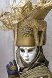 Venice Carnival Mask. Traditional venetian mask posing at Venice Carnival, Italy Stock Image