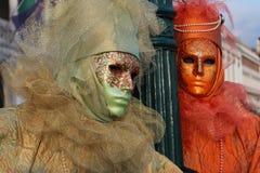 Venice Carnival Mask. Two men stock image