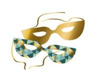 Venice carnival mask vector illustration. Stock Photos