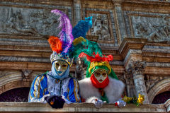 Venice carnival masks. Colors and atmosphere and characters of the Carnival of Venice Stock Photos