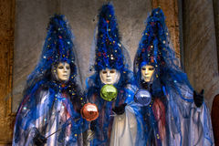 Venice carnival masks. Colors and atmosphere and characters of the Carnival of Venice Royalty Free Stock Images
