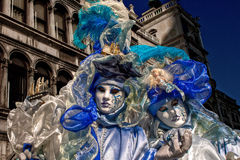 Venice carnival masks. Colors and atmosphere and characters of the Carnival of Venice Royalty Free Stock Image
