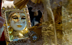 Venice carnival masks. Colors and atmosphere and characters of the Carnival of Venice Stock Image