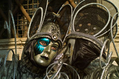 Venice carnival masks. Colors and atmosphere and characters of the Carnival of Venice Royalty Free Stock Photos