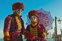 Venice carnival masks. Colors and atmosphere and characters of the Carnival of Venice Royalty Free Stock Photo