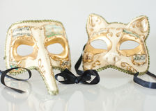 Venice Carnival Masks. His and hers Venice carnival Masks Royalty Free Stock Image