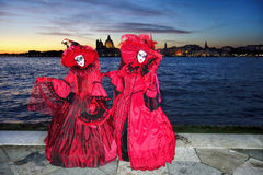 Venice with carnival masks in Italy Stock Photo