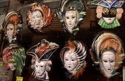 Venice. Carnival masks for sale in downtown stock photos
