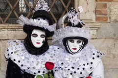 Venice Carnival Masks. Traditional venetian masks posing at Venice Carnival, Italy stock images