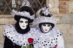 Venice Carnival Masks. Traditional venetian masks posing at Venice Carnival, Italy Stock Images