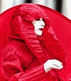 Venice Carnival Participant. A venice Carnival participant masquerading at Royalty Free Stock Images