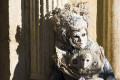 Venice Carnival Performers Stock Photography